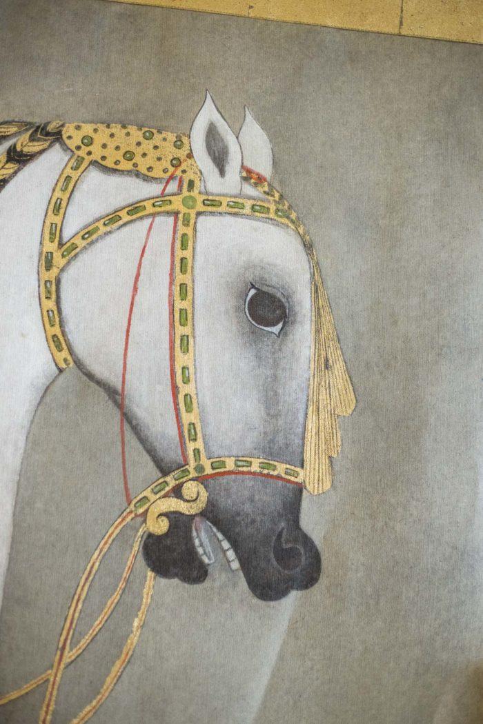 toile cheval tête