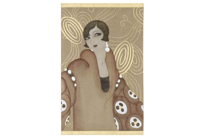 canvas art deco woman