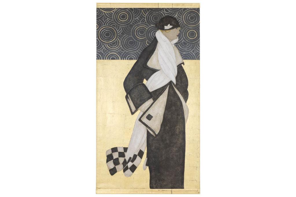 Toile peinte, Femme Art Déco, travail contemporain