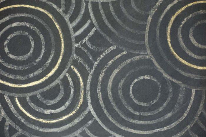 canvas art deco woman circles