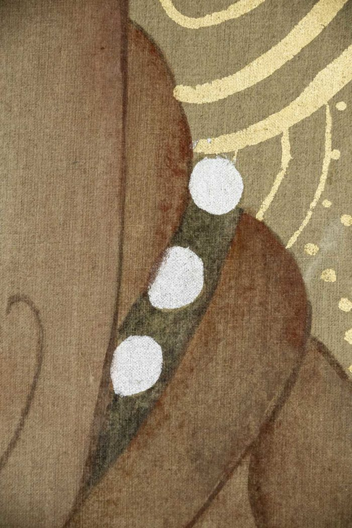 canvas art deco woman detail