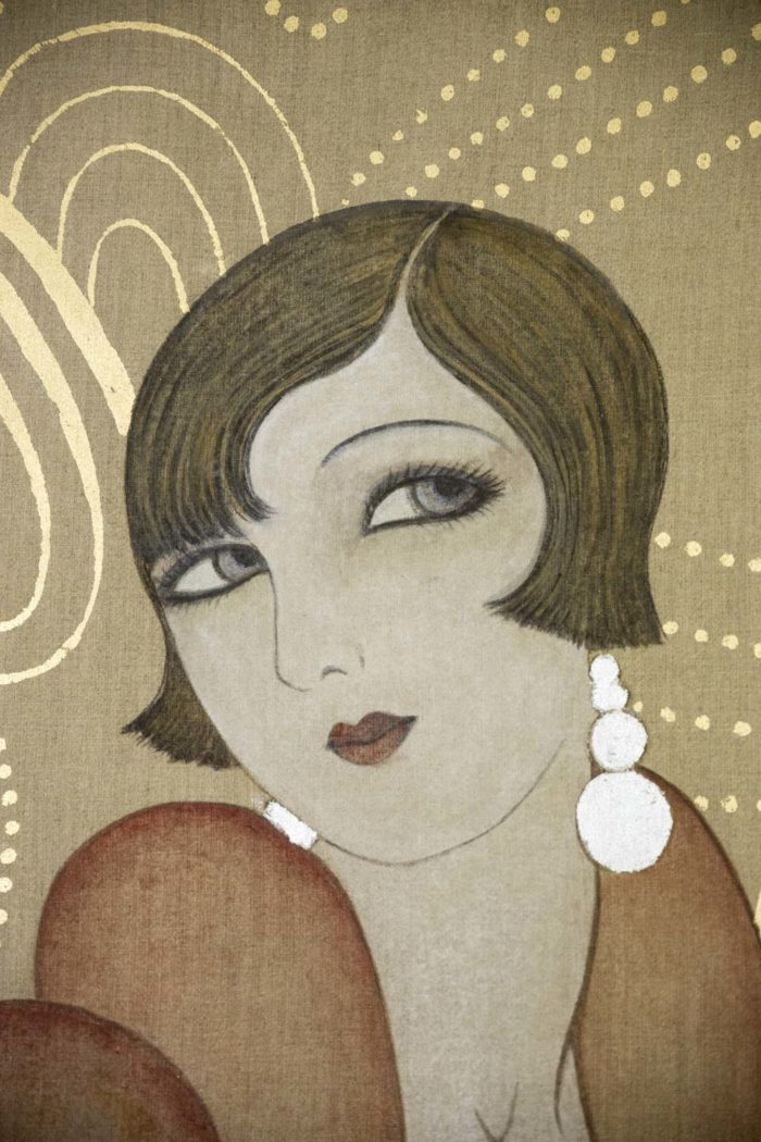 canvas art deco woman face