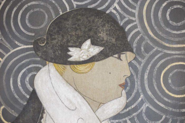 canvas art deco woman face