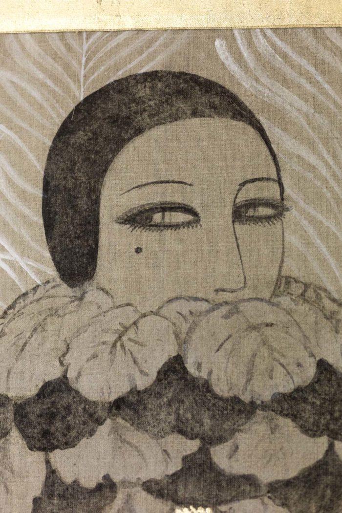 toile femme art déco visage