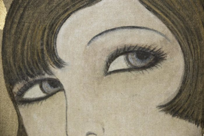 canvas art deco woman eyes
