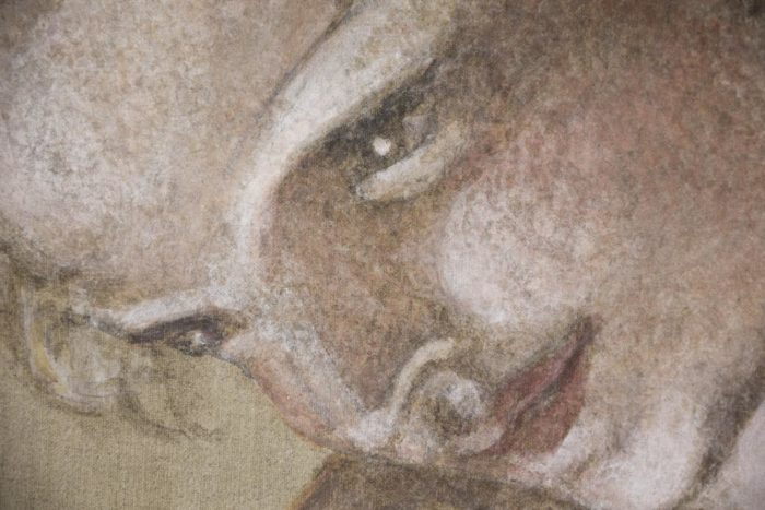 toile homme michel-ange style visage