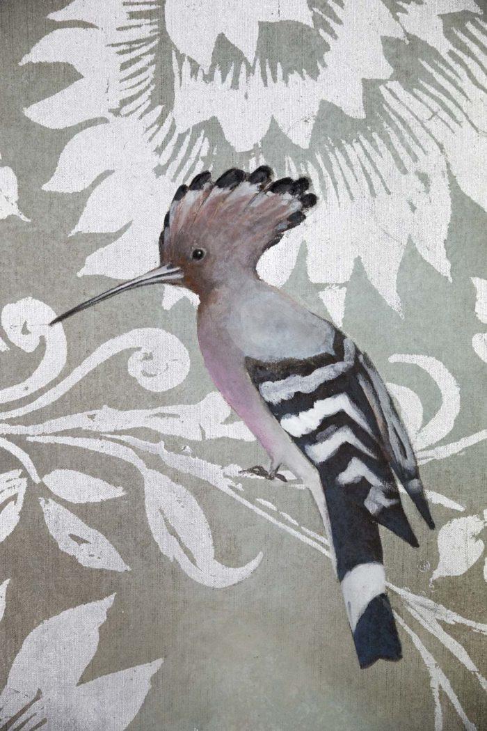toile oiseaux huppe