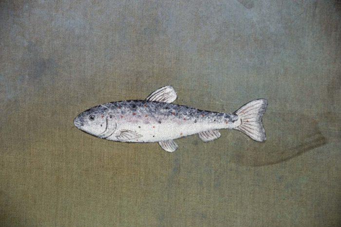 toile poisson argenté