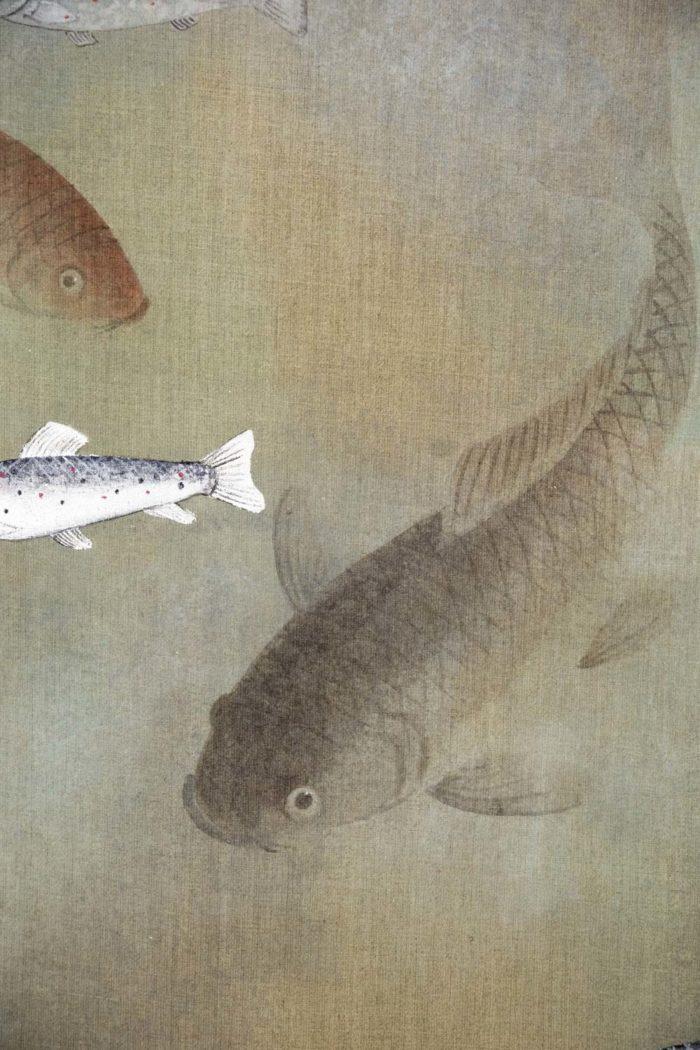 toile poissons carpe
