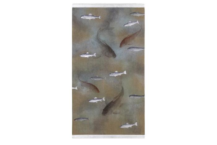 toile poissons carpes
