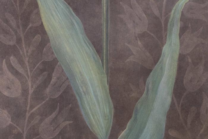 toile tulipe feuilles