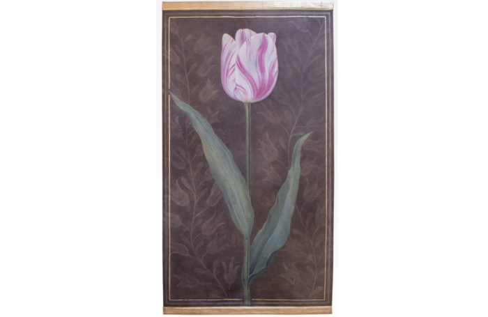 canvas tulip pink brown background