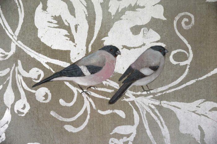 toiles oiseaux bouvreuils