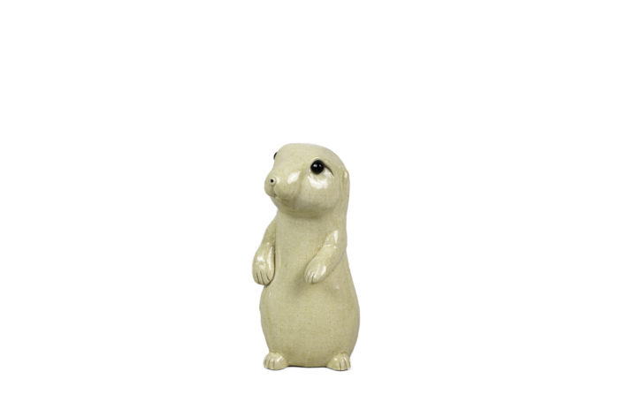 valérie courtet sculpture chien de prairie
