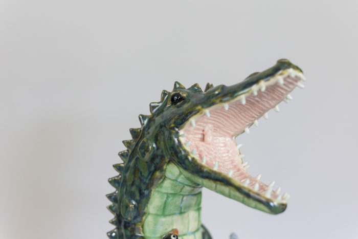 valérie courtet sculpture crocodile tête