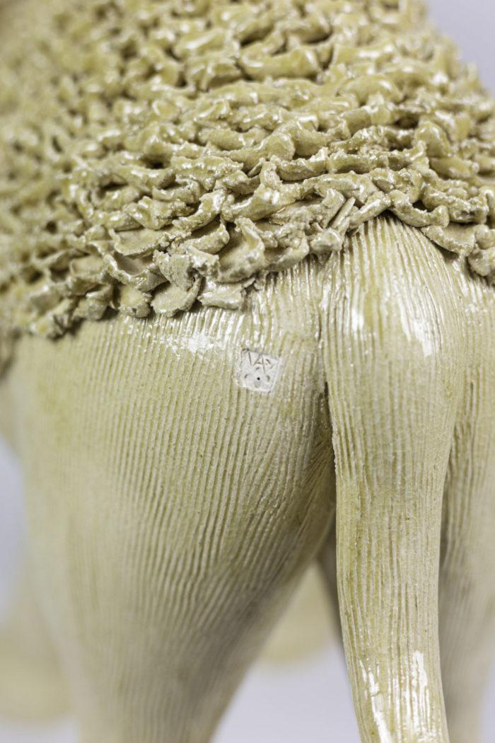 valérie courtet sculpture dromadaire détail