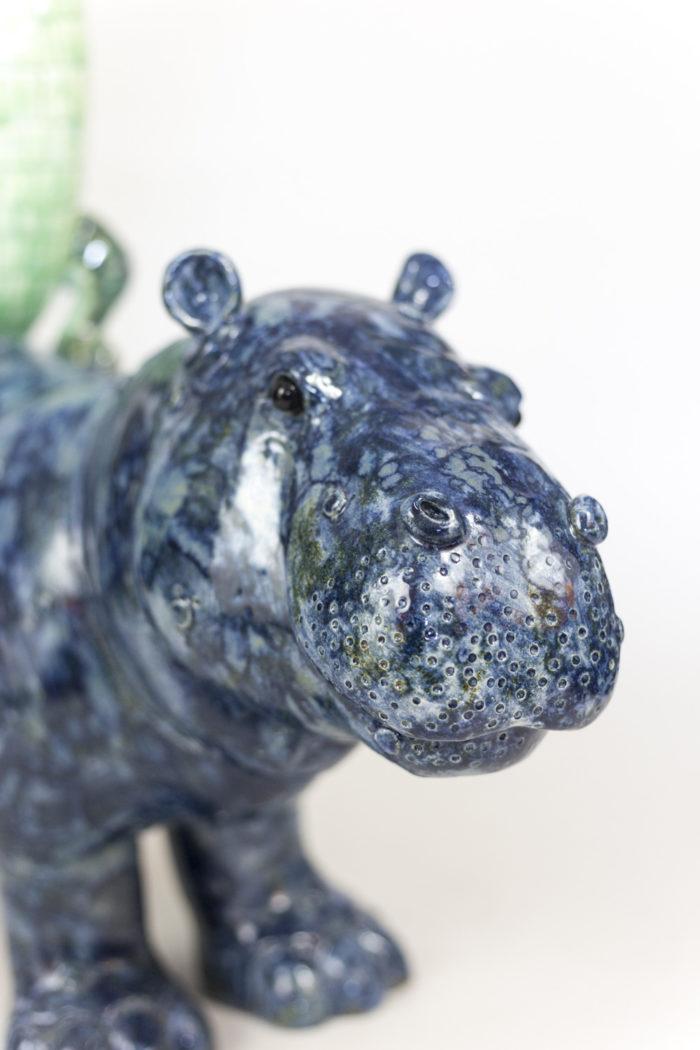 valérie courtet sculpture hippopotame tête