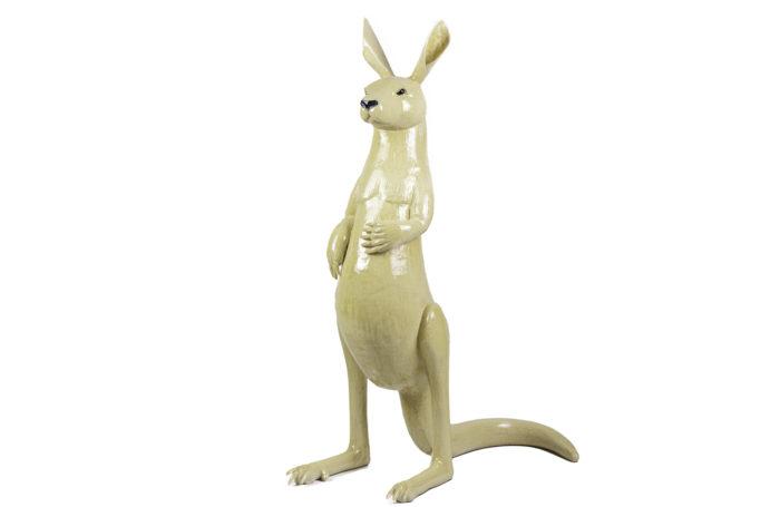 valérie courtet sculpture kangaroo glazed stoneware