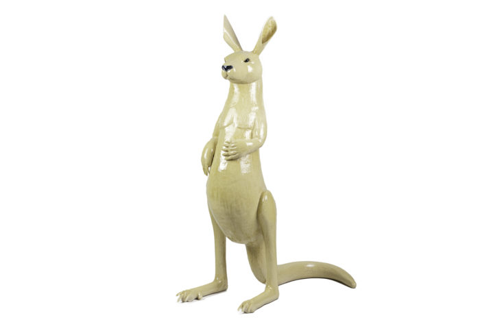 valérie courtet sculpture kangourou grès émaillé