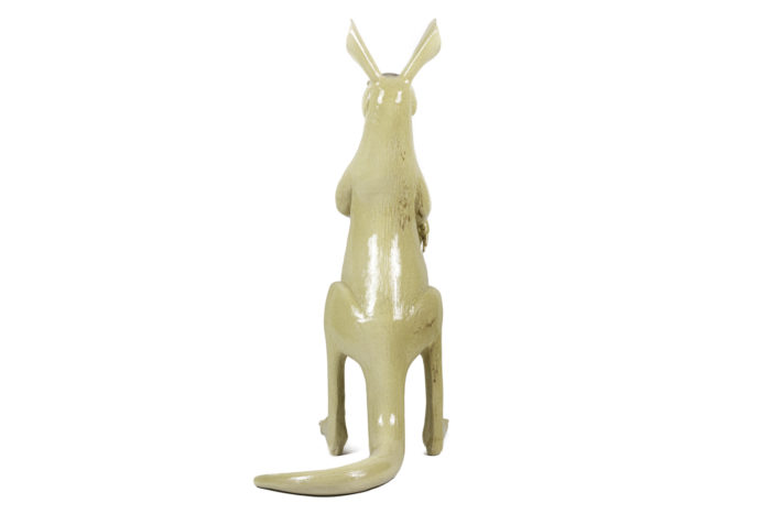valérie courtet sculpture kangourou grès émaillé dos