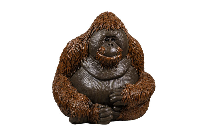 valérie courtet sculpture orangutan