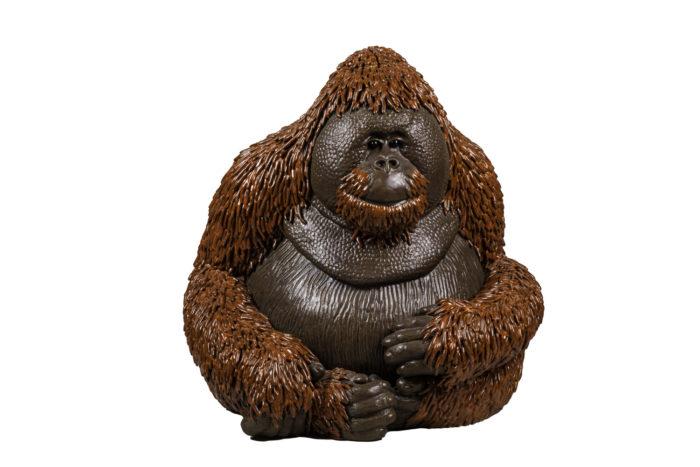 valérie courtet sculpture orang outan