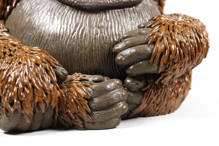 valérie courtet sculpture orang outan pattes