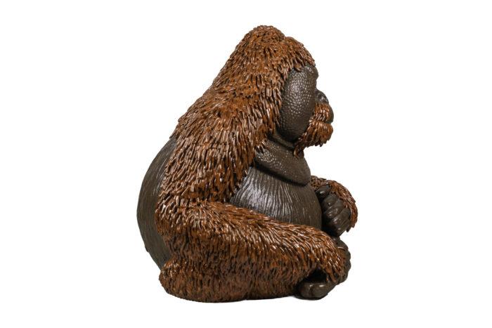 valérie courtet sculpture orang outan side