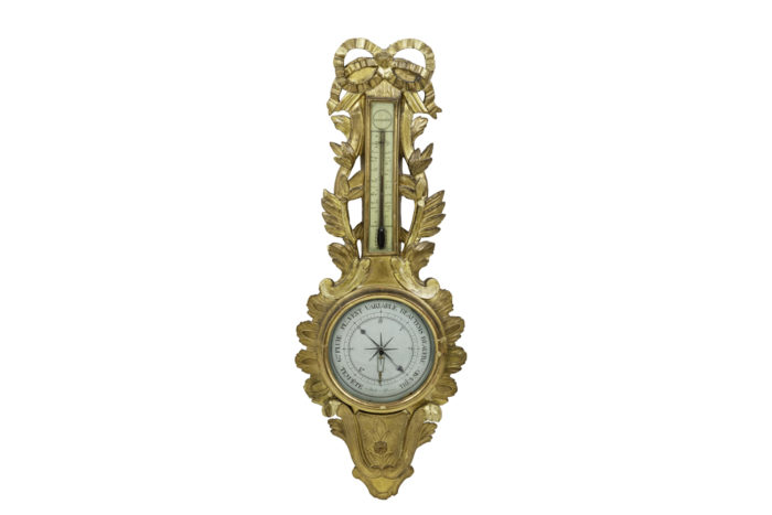 louis xvi barometer gilt wood