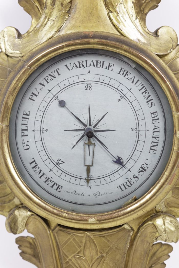 louis xvi barometer gilt wood dial
