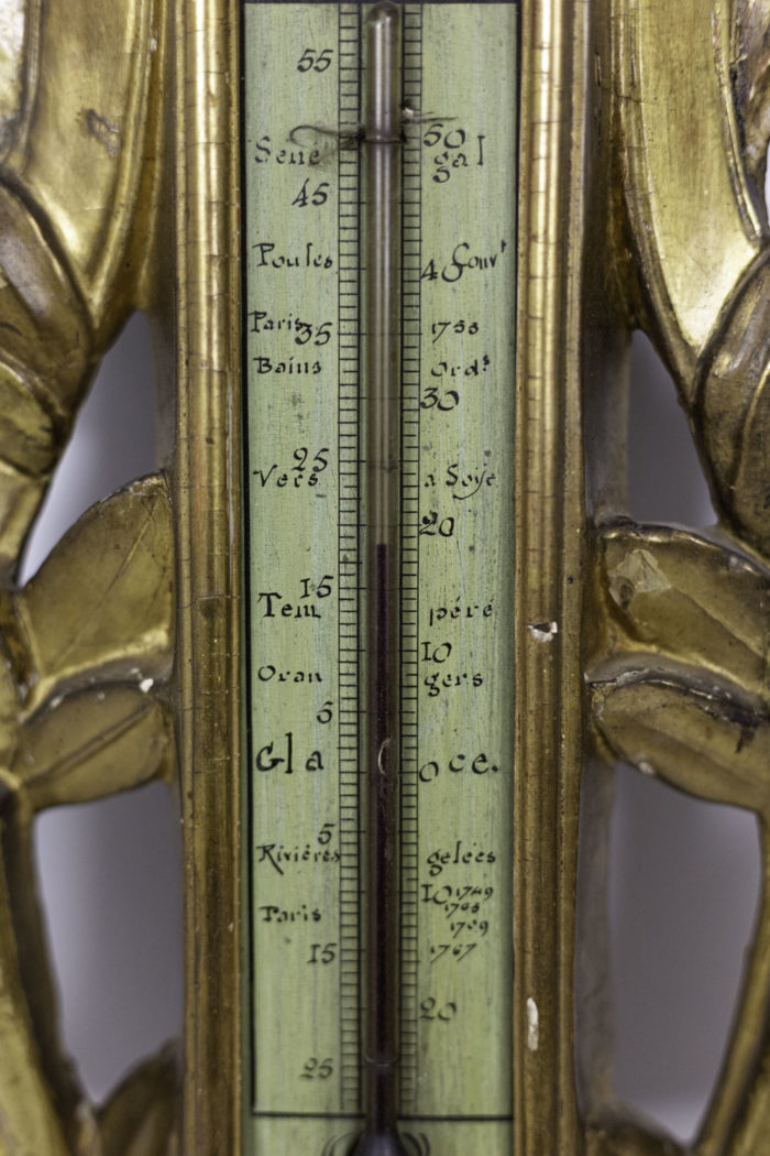 louis xvi barometer gilt wood thermometer