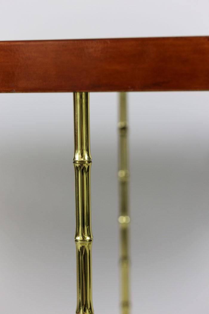 bernard dunand console laque bronze doré bambou