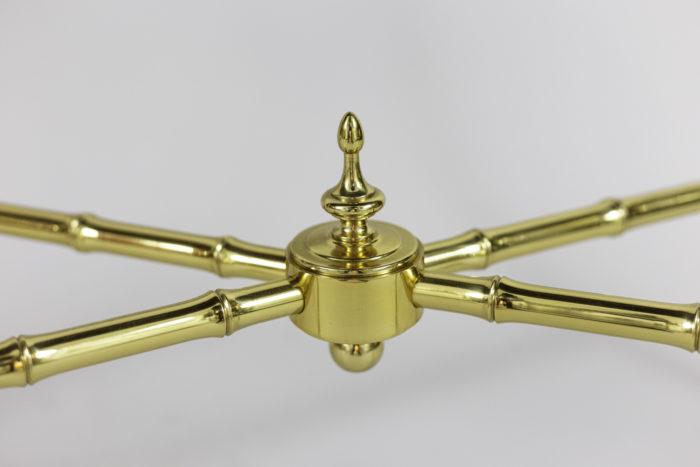 bernard dunand console laque entretoise bronze doré
