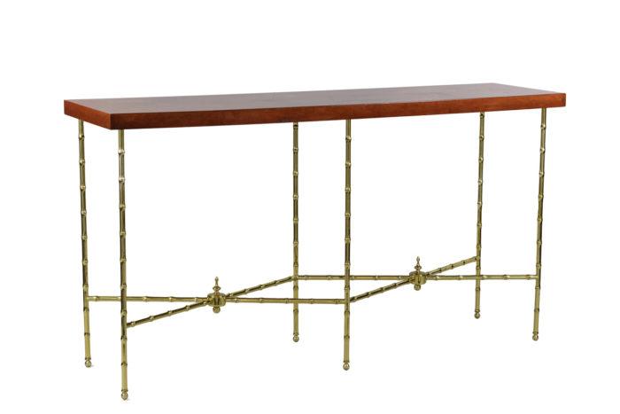 bernard dunand console laque rouge chinoisante bronze doré 2