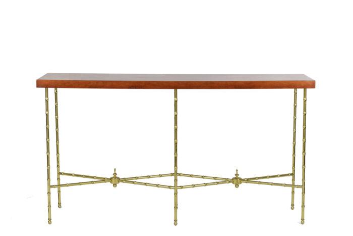 bernard dunand console laque rouge chinoisante bronze doré