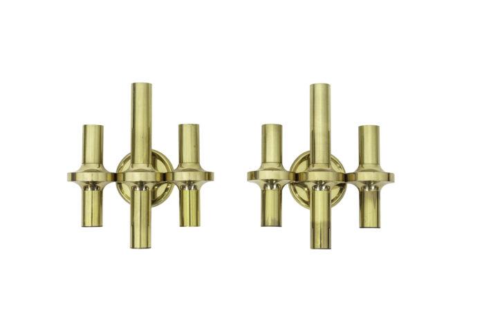 gaetano sciolari wall sconces gilt brass