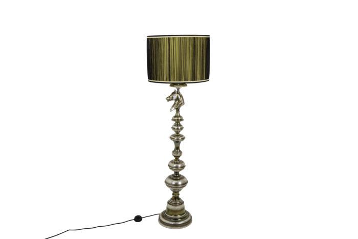 horse floor lamp silvered bronze