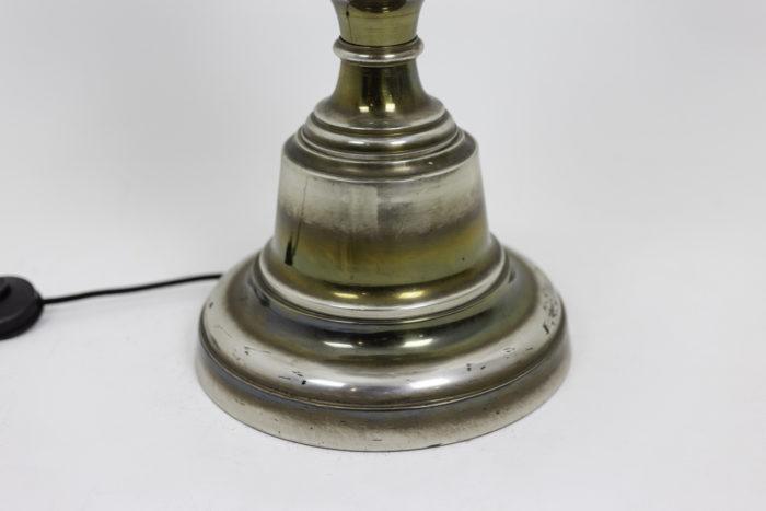 horse floor lamp silvered bronze base