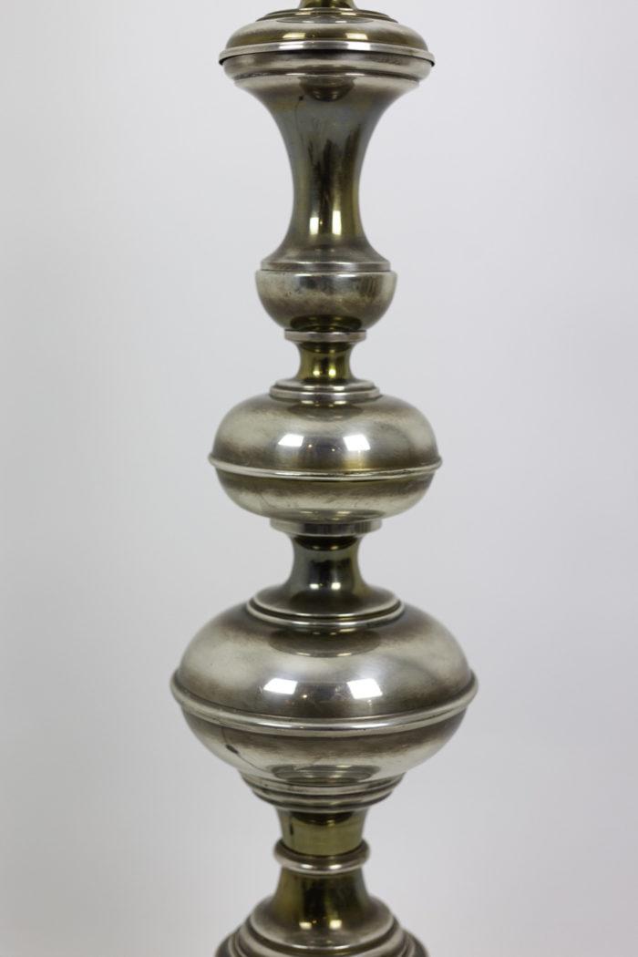 horse floor lamp silvered bronze chapelet
