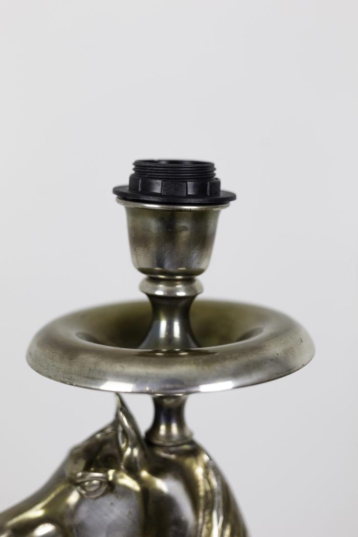 horse floor lamp silvered bronze top