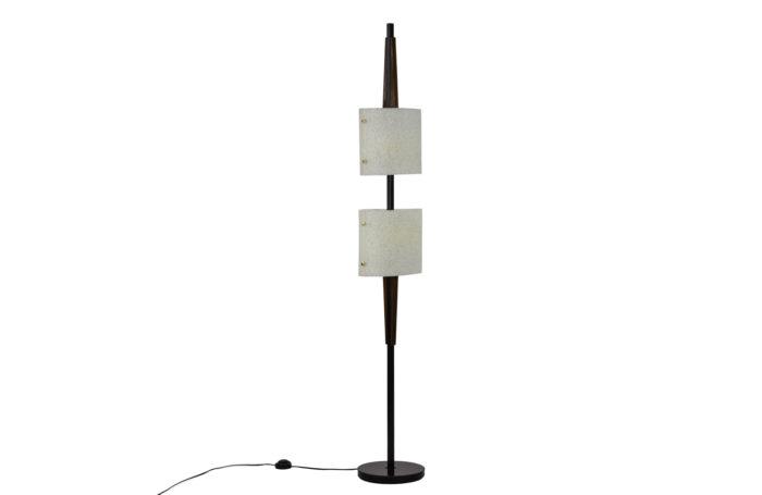 lampadaire résine granitée bois métal