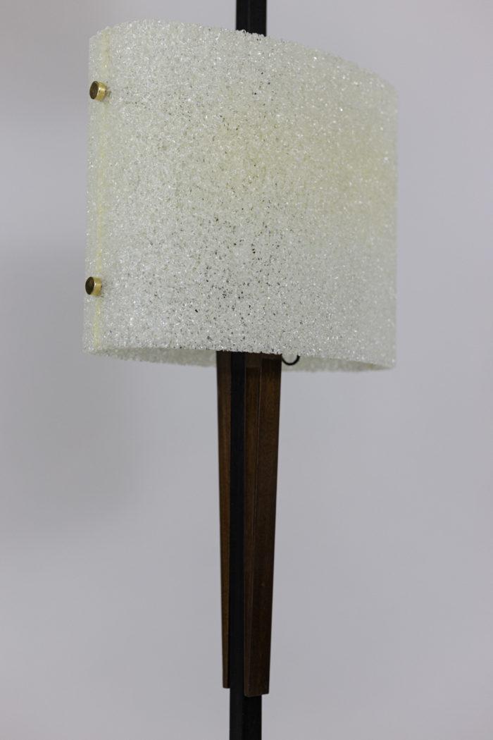 lampadaire résine granitée bois métal laqué