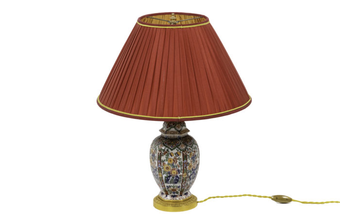lamp delft earthenware gilt bronze