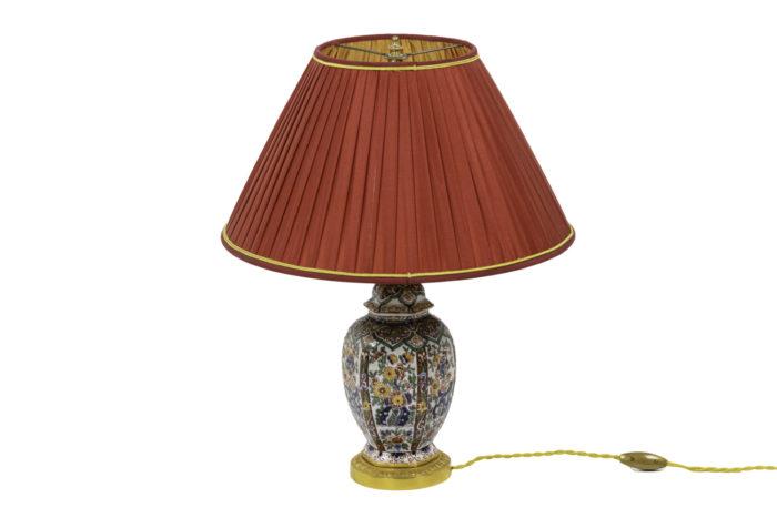 lampe faïence de delft bronze doré