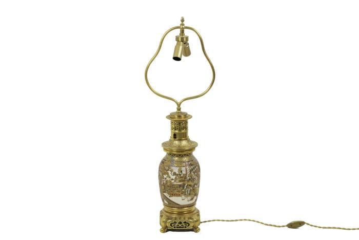 lamp satsuma earthenware gilt bronze