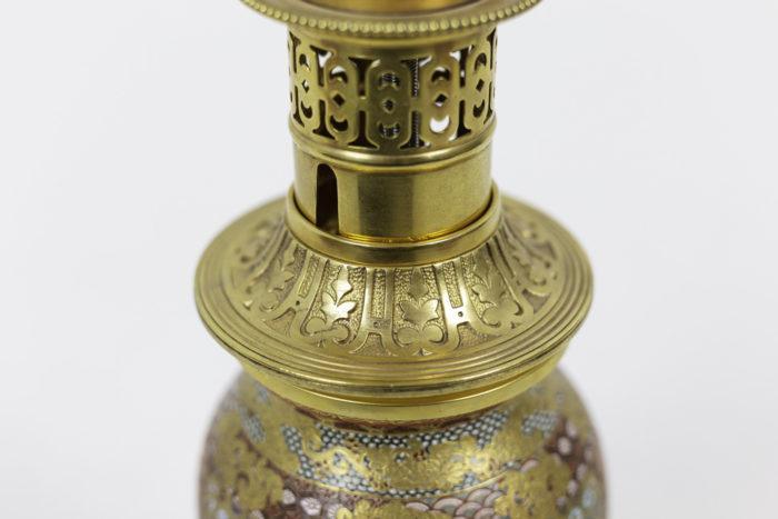 lamp satsuma earthenware gilt bronze decor