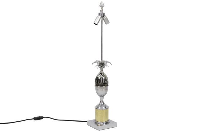 lampe oeuf métal argenté doré bakélite