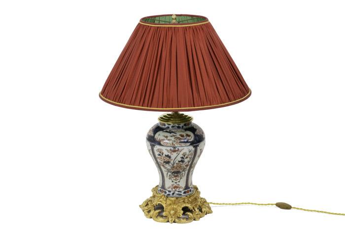 lampe porcelaine imari bronze doré