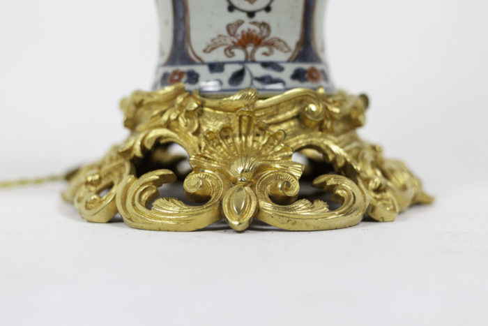 lampe porcelaine imari bronze doré base