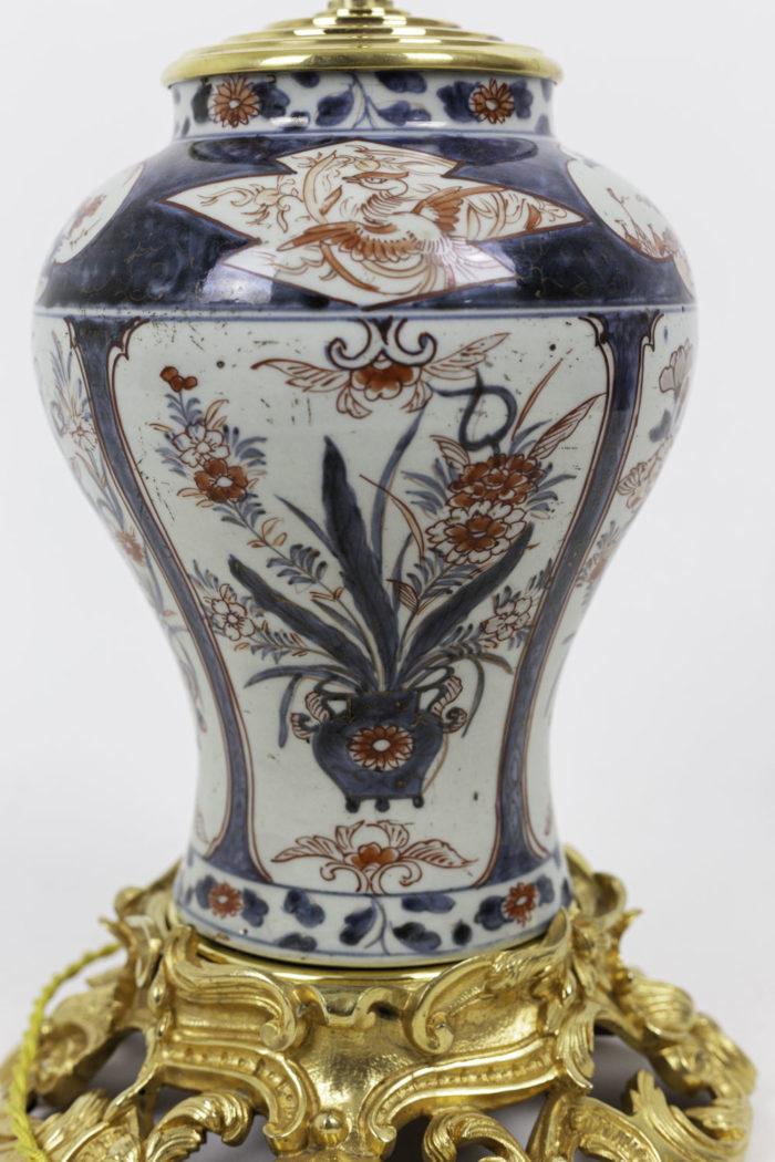 lampe porcelaine imari fleurs